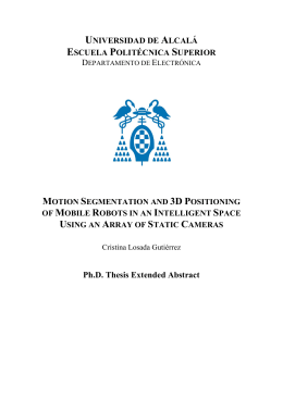 Ph.D. Thesis Extended Abstract