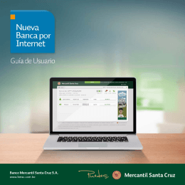 Manual de usuario - Banco Mercantil Santa Cruz