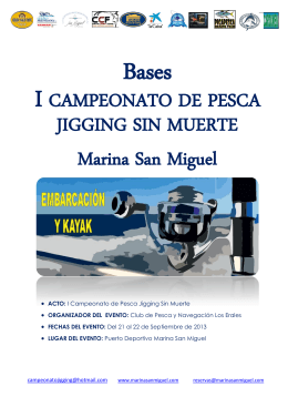 JIGGING SIN MUERTE Marina San Miguel I CAMPEONATO DE