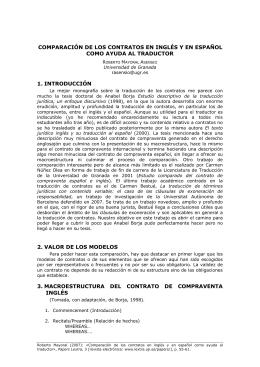 comparación de los contratos en inglés y en español como