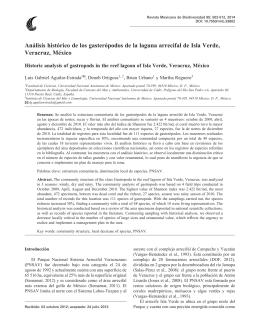 Análisis histórico de los gasterópodos de la laguna arrecifal de Isla