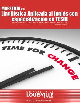 brochure MAESTRÍA en ENSEÑANZA DEL INGLÉS