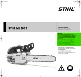 STIHL MS 200 T Arborist Chain Saw Instruction Manual | STIHL USA