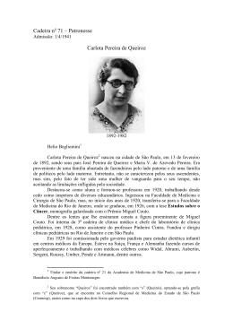 Carlota Pereira de Queiroz - Academia de Medicina de São Paulo