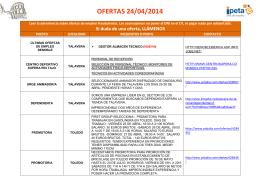 OFERTAS 24/04/2014
