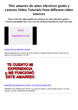 Z amarres de amor efectivos gratis y caseros PDF video