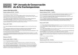 Folleto de la Jornada - Museo Nacional Centro de Arte Reina Sofía