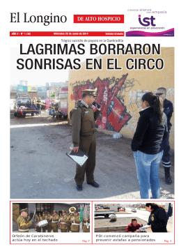 LAGRIMAS BORRARON SONRISAS EN EL CIRCO