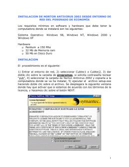INSTALACION DE NORTON ANTOVIRUS 2002