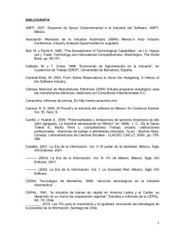 1 BIBLIOGRAFÍA AMITI, 2001. Esquema de Apoyo