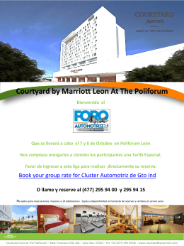 Courtyard by Marriott Leon At The Poliforum