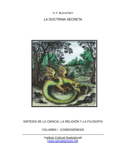 LA DOCTRINA SECRETA - Instituto Cultural Quetzalcoatl