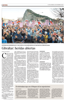 Gibraltar: heridas abiertas - Blogs EL PAIS