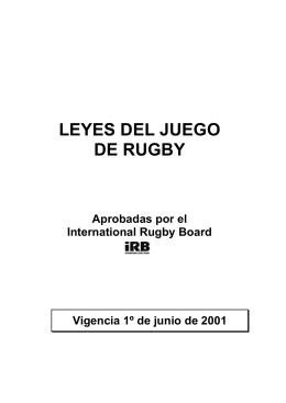 Reglamento del Rugby