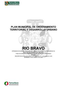 RIO BRAVO - Secretaría de Desarrollo Urbano y Medio Ambiente