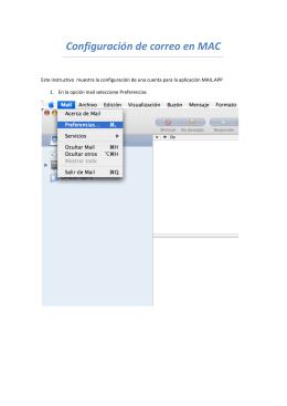 Configuración de correo en MAC