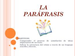 LA PARÁFRASIS