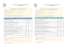 lista de cotejo para evaluar la parafrasis mecánica