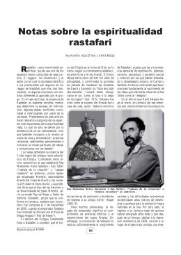 Notas sobre la espiritualidad rastafari