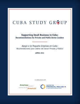 Supporting Small Business in Cuba: Apoyo a la Pequeña Empresa