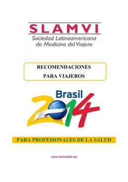 Recomendaciones para viajeros Brasil 2014