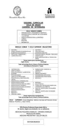 plan de estudios - Facultad de Ciencias Veterinarias