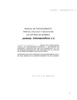 MANUAL DE PROCEDIMIENTO PARA EL CALCULO Y