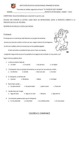 COLOREA EL CHIMPANCE