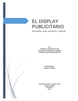 EL DISPLAY PUBLICITARIO (426308)