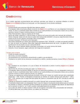 Credinómina - Banco de Venezuela