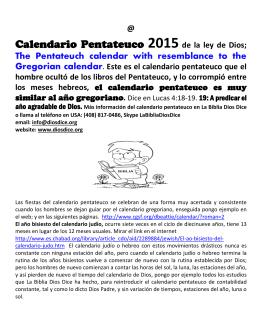 0.2015 Calendario Anual 2015 Gregoriano y Pentateuco Rev 4