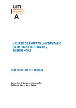 V CURSO DE EXPERTO UNIVERSITARIO EN MEDICINA