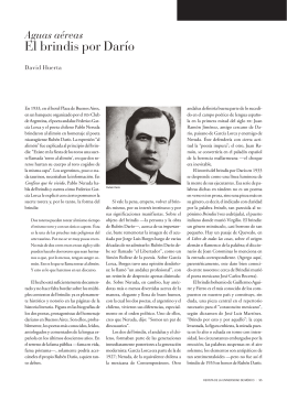 El brindis por Darío - Revista de la Universidad de México