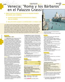 """Venecia: """"Roma y los Bárbaros"""" en el Palazzo Grassi"""