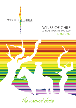 table - Wines of Chile