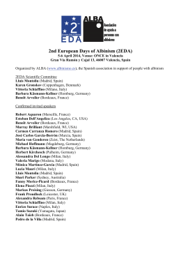 here the detailed program for the 2EDA meeting