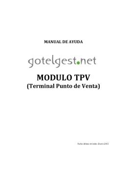 Manual Software Gestión TPV (Terminal Punto de Venta) GotelGest