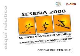 OFFICIAL BULLETIN NR. 2 - International Water Ski Federation