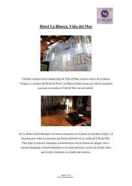 Hotel La Blanca, Viña del Mar