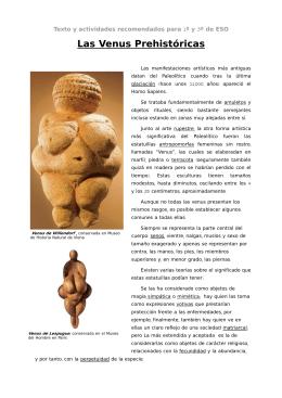 Las Venus Prehistoricas - maraEPV