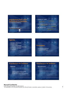 Arquitectura para crear Soluciones Conectadas - Faccia