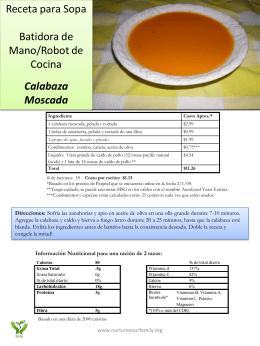 Receta para Sopa Batidora de Mano/Robot de Cocina