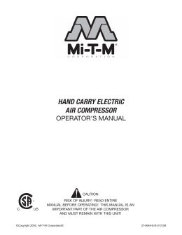 HAND CARRY ELECTRIC AIR COMPRESSOR - Mi-T
