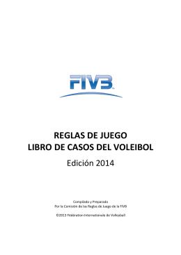 REGLAS DE JUEGO LIBRO DE CASOS DEL VOLEIBOL