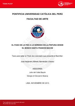pontificia universidad católica del perú facultad de arte