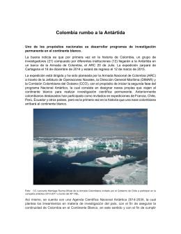 Colombia rumbo a la Antártida - Comisión Colombiana del Océano