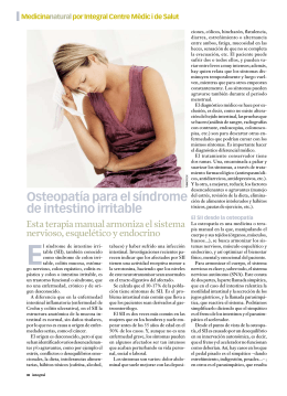 Osteopatía para el síndrome de intestino irritable