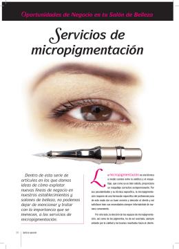 Servicios de micropigmentación