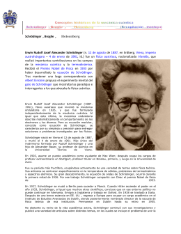Schrödinger , Broglie , Heisenberg Erwin Rudolf