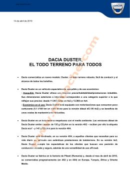 DACIA DUSTER, EL TODO TERRENO PARA TODOS